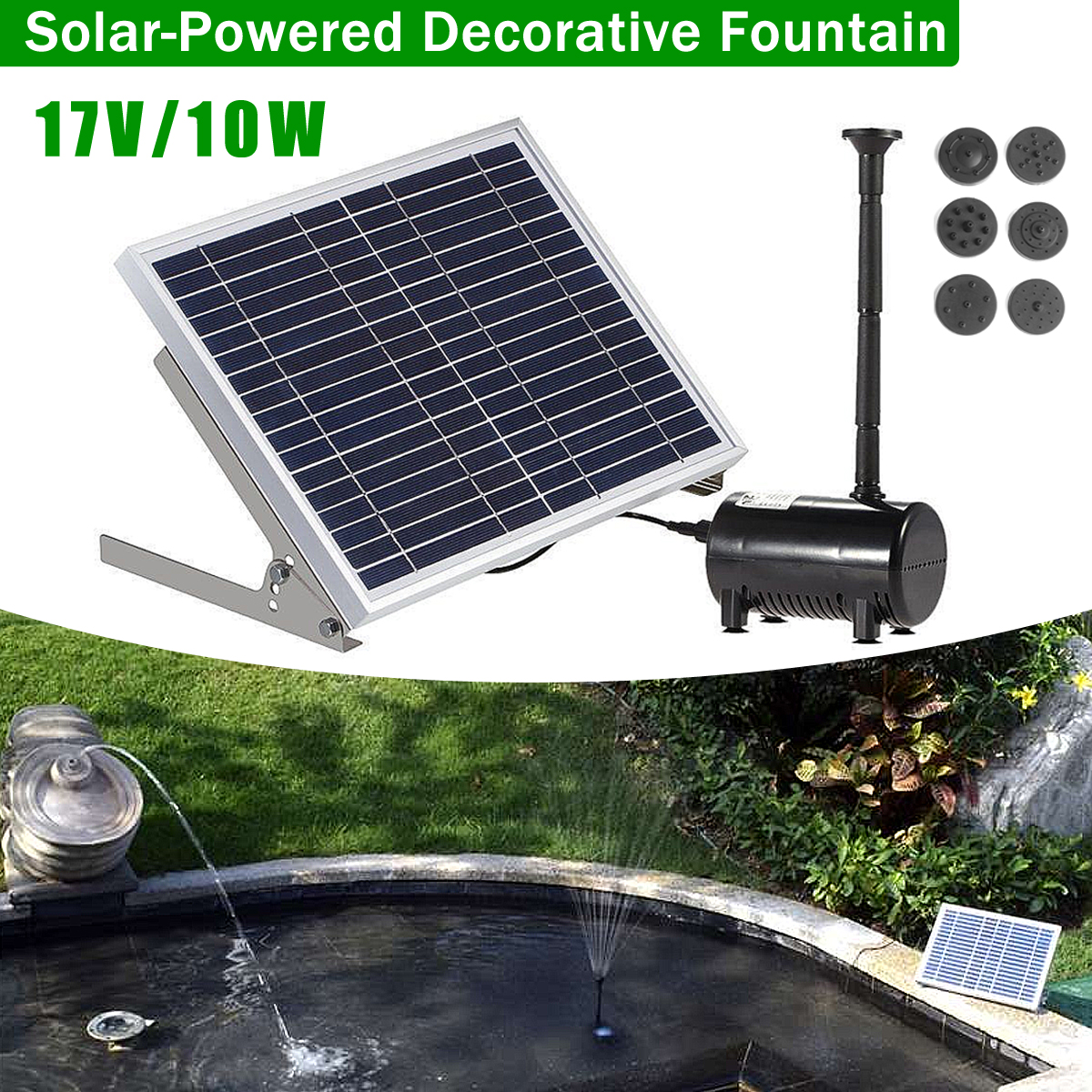 Solar Fountain Pump Solar Fountain Pump Solar Powered Water Pump Pond Pool Submersible Solar Water Fountain Pump Kit