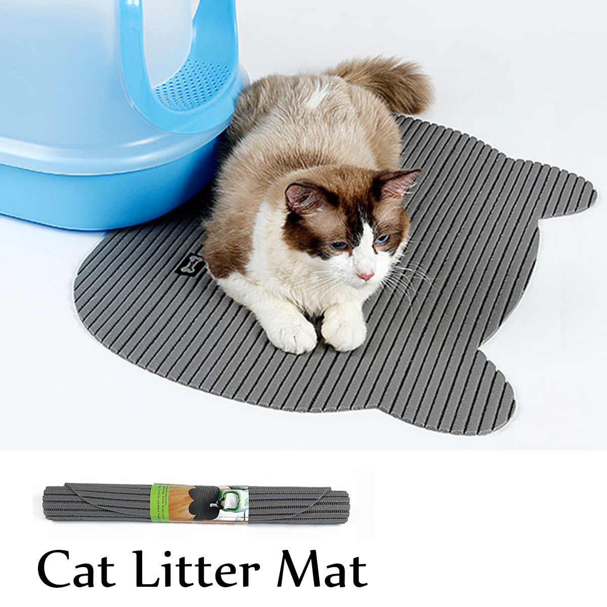 Litiere Chaton Tapis De Litière Pour Chat Eva Two Layers Chaton Scatter