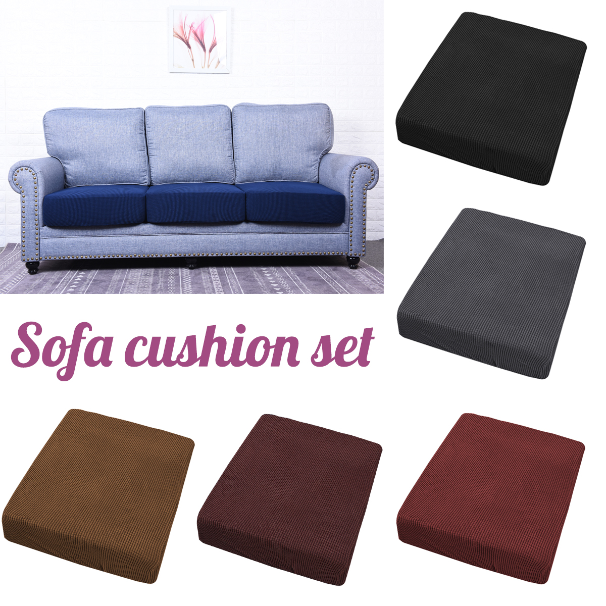 Couch Covers Stretchy Sofa Seat Cushion Cover Couch Slip Covers Protector
