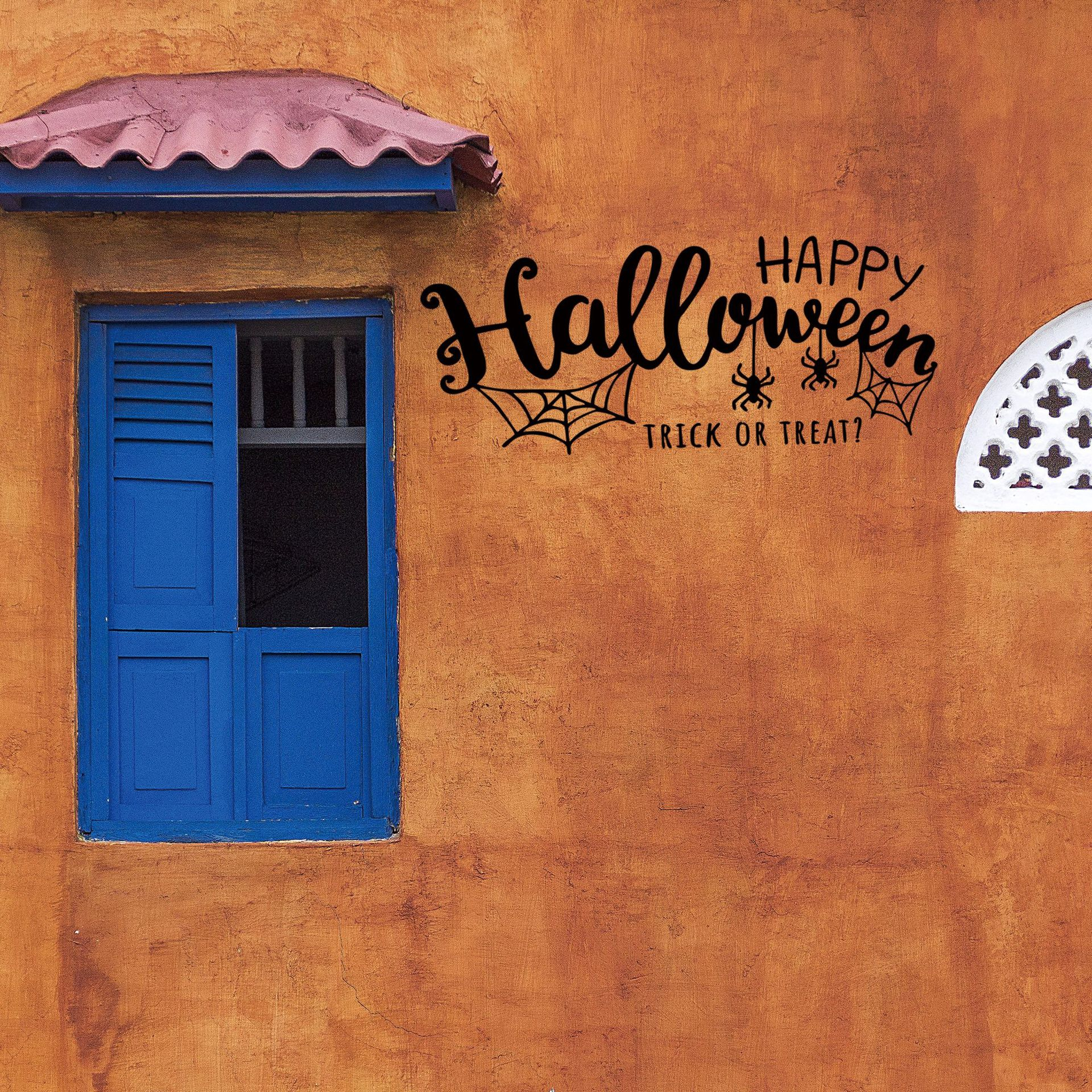 Mural Kamar Selamat Halloween Wall Sticker Dekorasi Kamar Mural Art Decal Sticker Mural Kamar Decal Wallpaper
