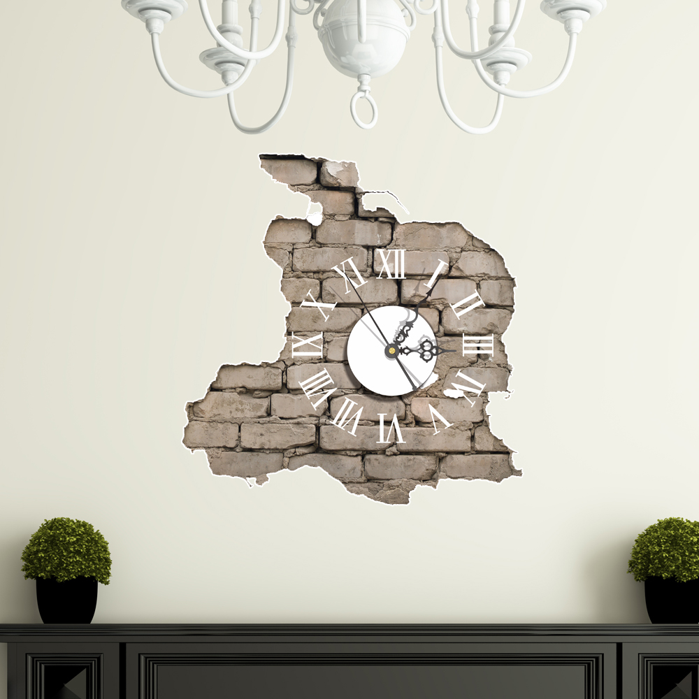 3d Wall Decor Pag Sticker 3d Wall Clock Decals Breaking Cracking Wall Sticker Home Wall Decor Gift