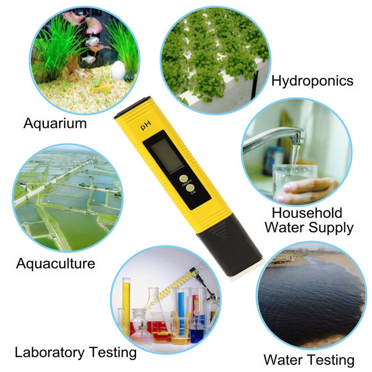 Zwembad Water Ph Draagbare Digitale Ph Meter Tester Aquarium Zwembad Water Wijn Urine Lcd Pen Monitor