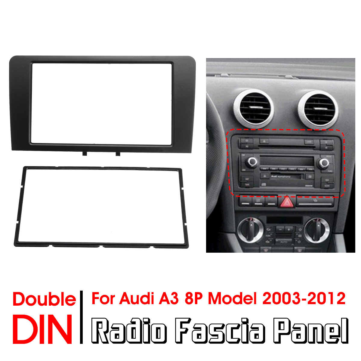 Seat Leon 2 Din Adapter New 2din Car Radio Stereo Fascia Panel Plate Adapter For
