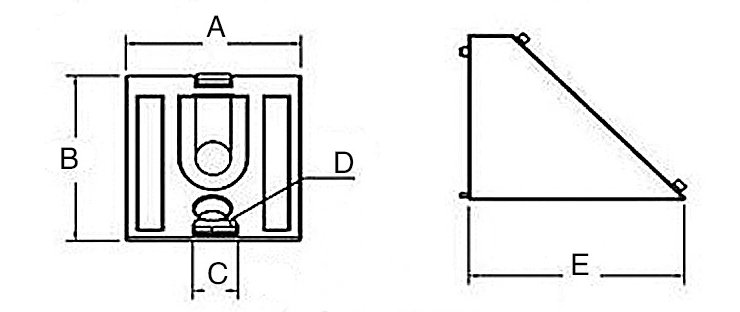 Machifit Aluminium Bevel Edge Connector Bracket Angle Corner Joint For 4040 Aluminum Profile Blusr