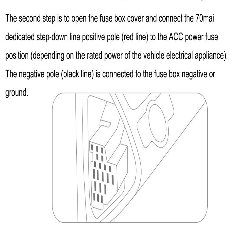 70 mai car dvr intelligent rear view mirror fuse box car hard wire