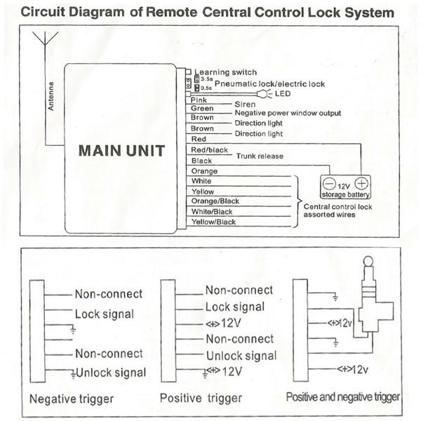 universal car remote control central kit door lock locking keyless