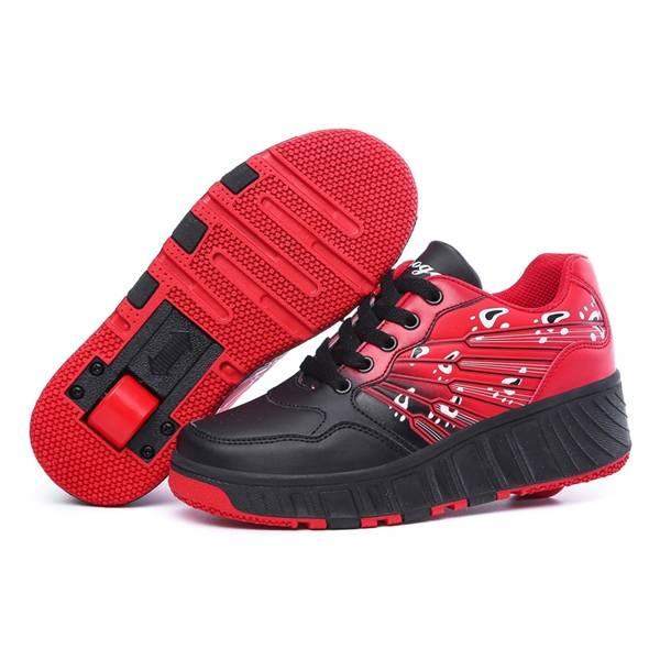 size 37-43 unisex skateboard shoes roller shoes single wheel heelys