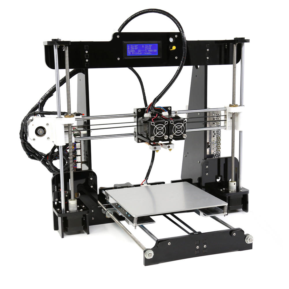 Bad 3d Planer Anet A8 M Diy Upgrated 3d Printer Kit Dual Extruder Support Dual Color Printing Abnormal Heating Protection 220 220 240mm Printing Size