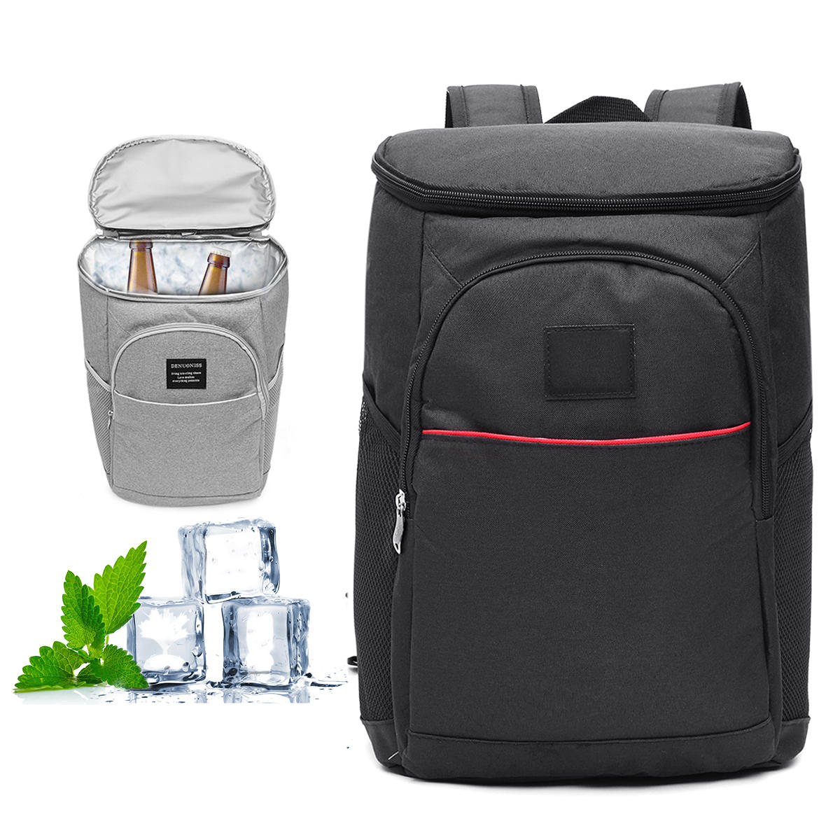Bag Of Ice Price 18l Insulated Cooling Backpack Camping Rucksack Ice Cooler Bag Freeze Picnic Grocery Bag