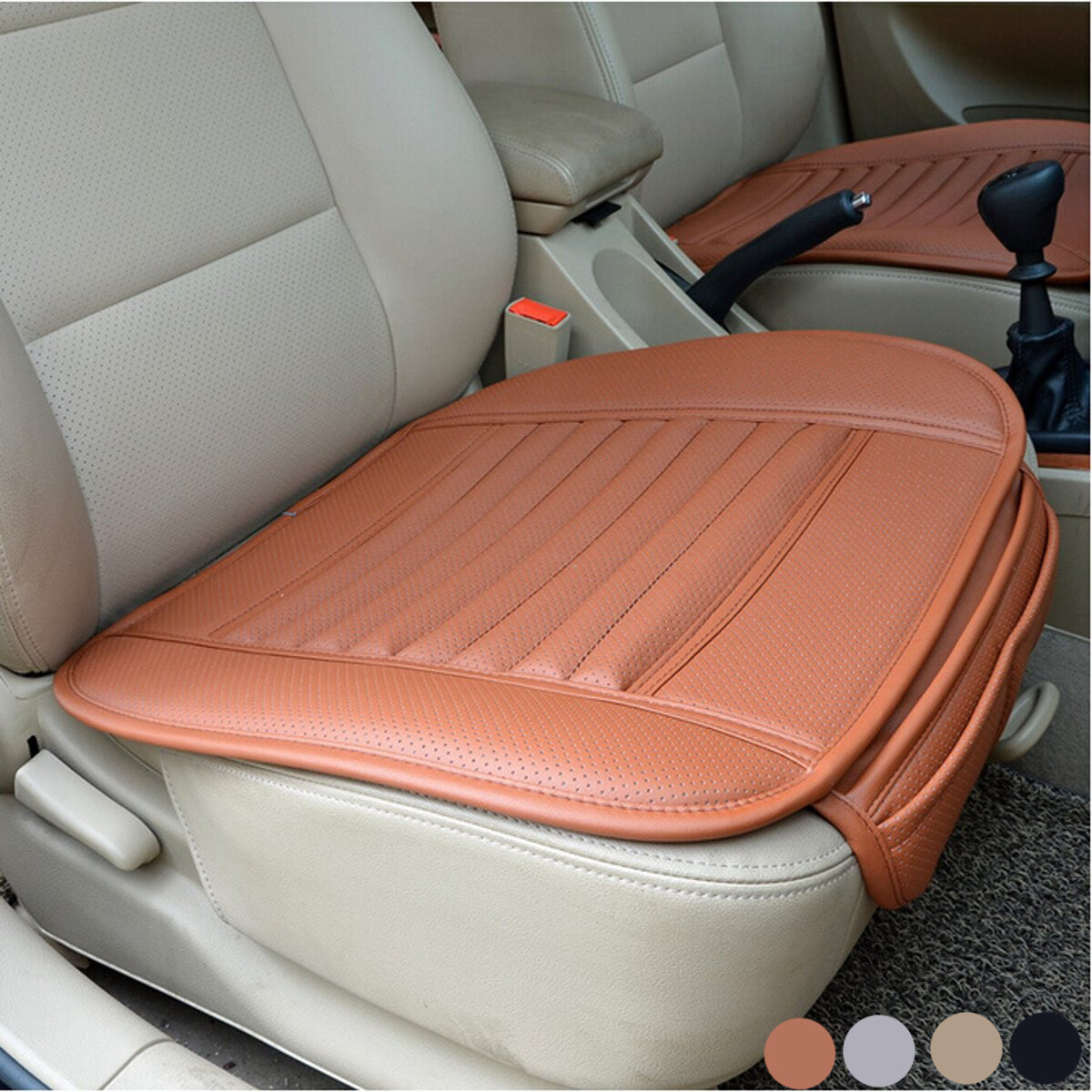 Car Seat Cushions Australia Universal Seat Pad Pu Leather Bamboo Charcoal Car Cushions Car Seat Covers For Auto Car Chairs Interior
