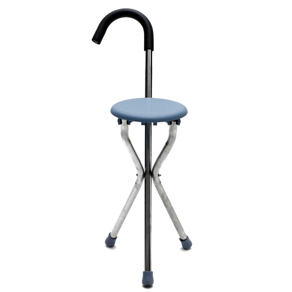 Portable Stool Ipree Outdoor Travel Folding Stool Chair Portable Cane Walking Stick Seat Camping Hiking Picnic
