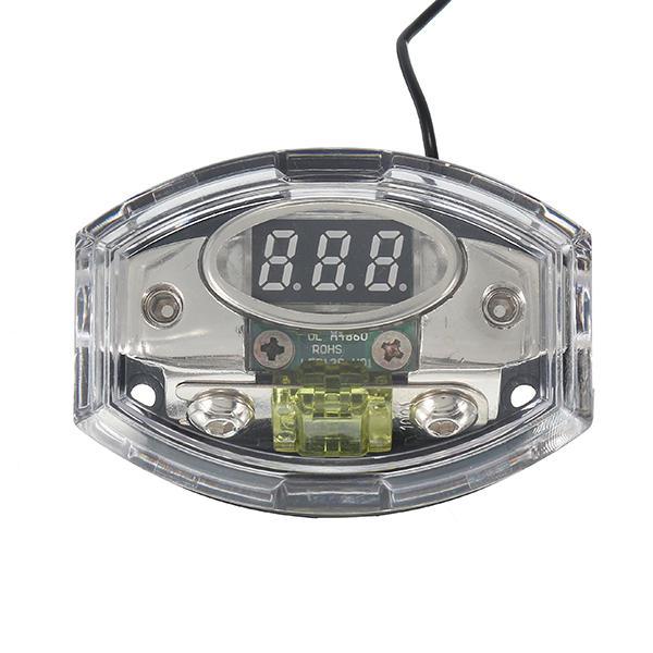 universal car auto digital led voltage display audio amplifier fuse