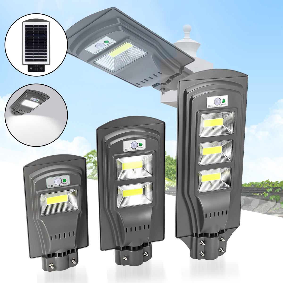 Lampe 40w 20w 40w 60w Solar Powered Pir Motion Sensor Street Lamp Outdoor Garden Yard Light