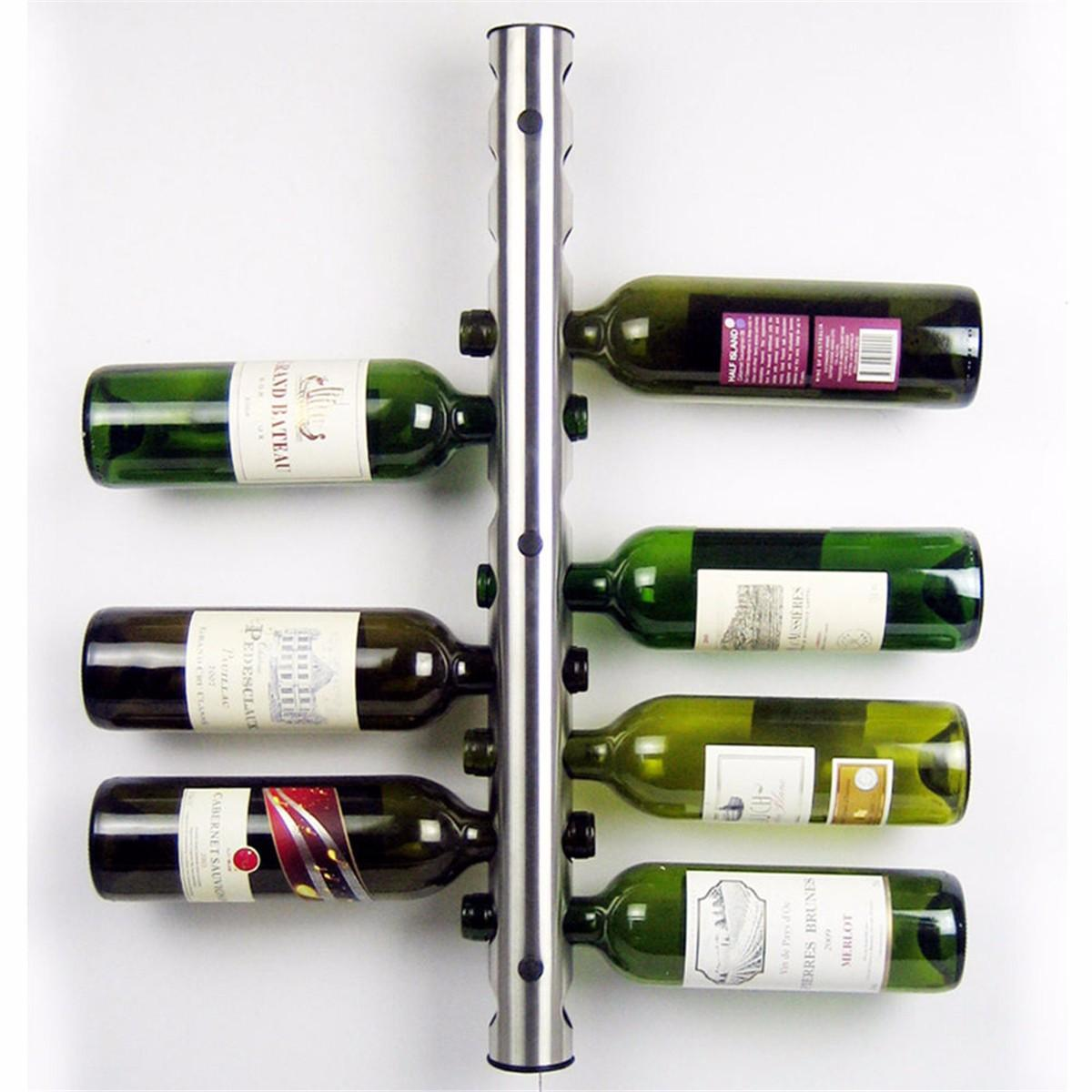 Wine Holder Stand Mental 12 Hole Wine Water Bottle Holder Wall Mounted Wine Rack Holder Stand Kitchen Bar
