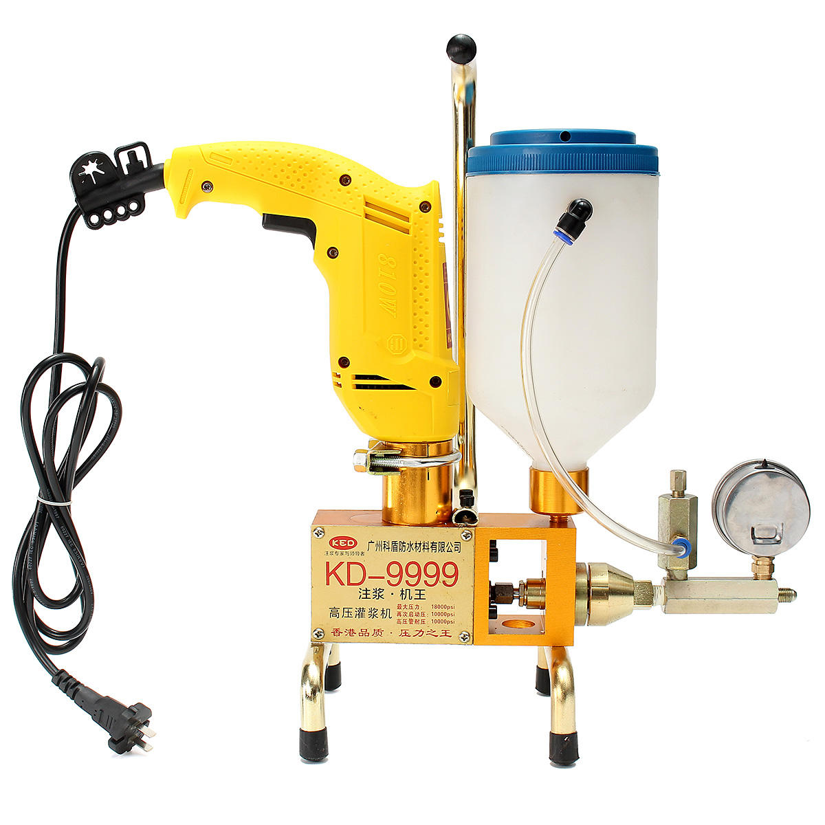Epoxy Injection 220v Electric Epoxy Injection Piston Pump Polyurethane Foam Grouting Machine