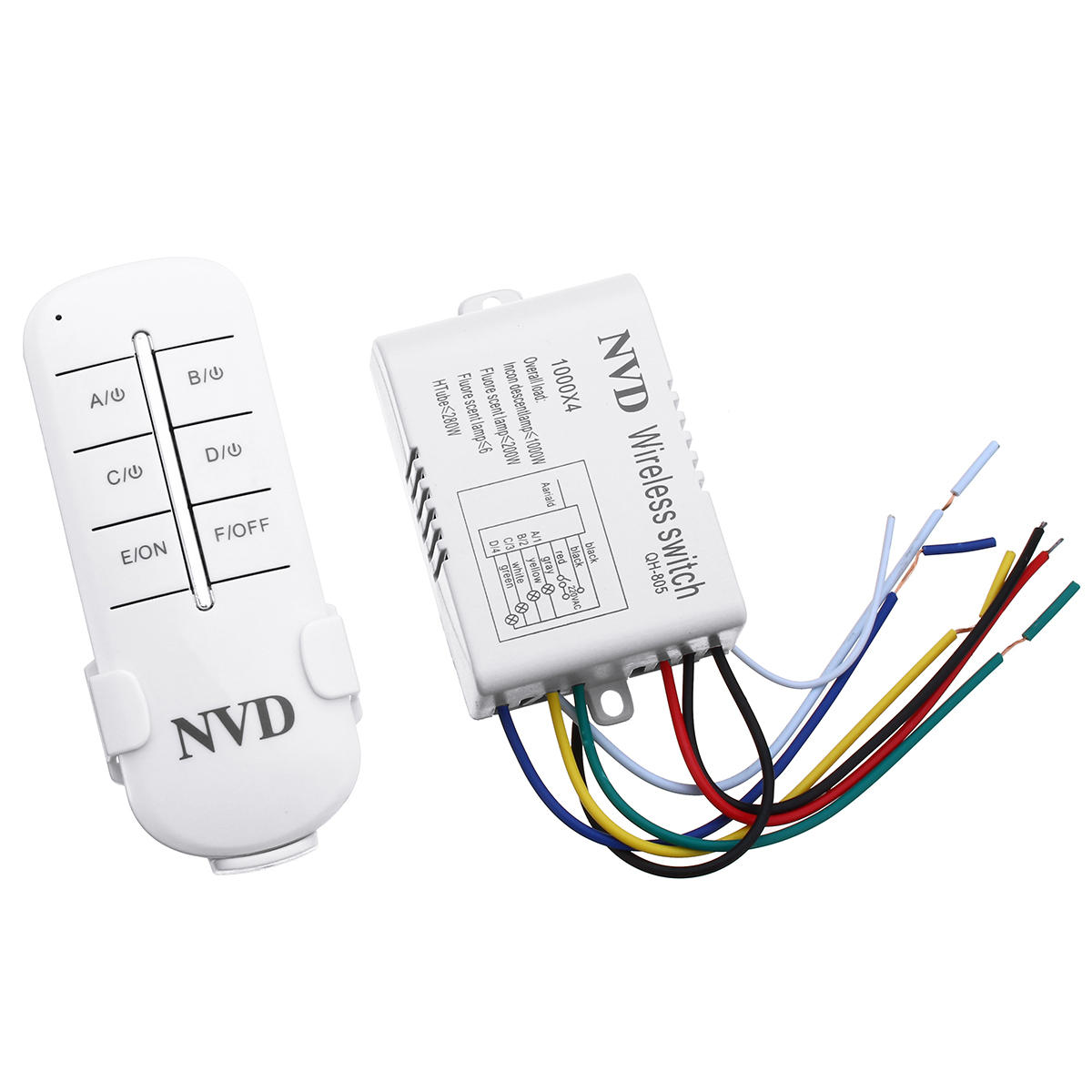 Led 220v 1000w 220v Four Way Intelligent Remote Control Switch Led Lamp Wireless Remote Control Switch