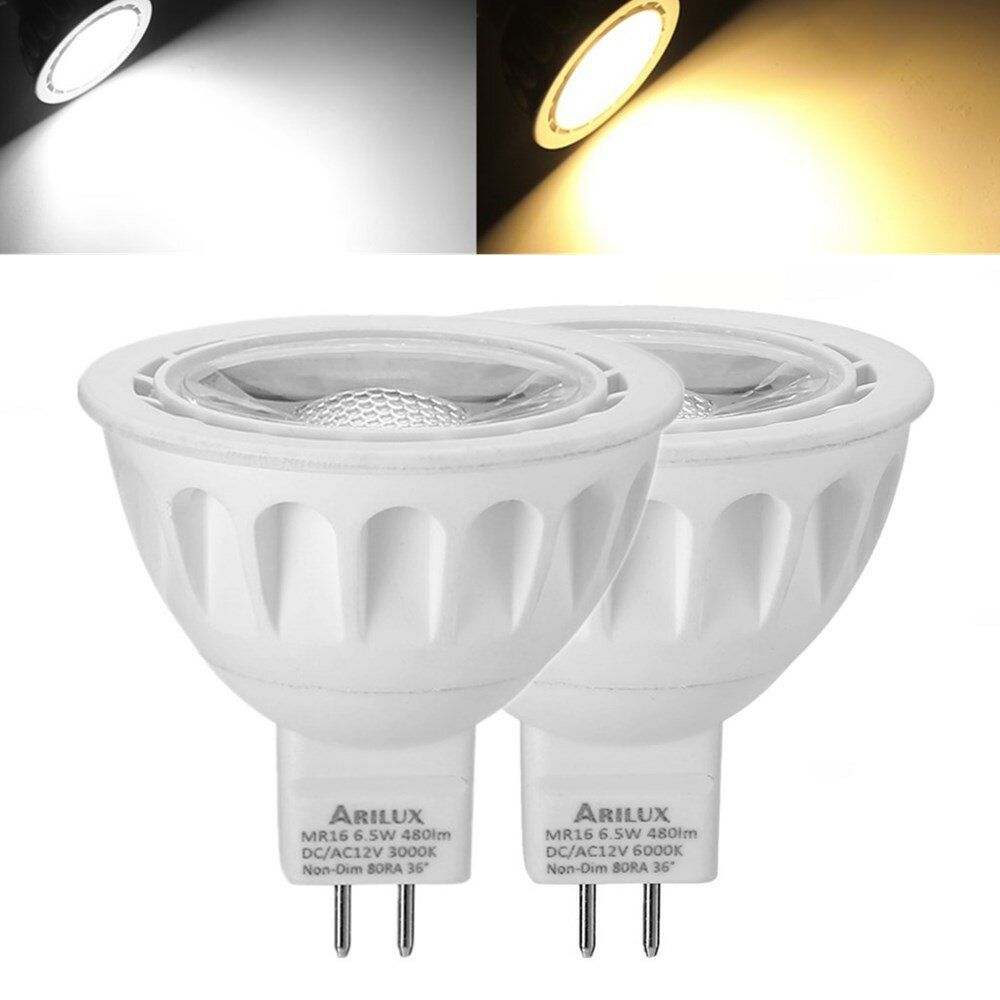 Dimmbare Led Spots 1x 5x 10x Arilux Mr16 6 5w Smd2835 480lm Led Spot Lightt Lamp Bulb Non Dimmable Ac Dc12v