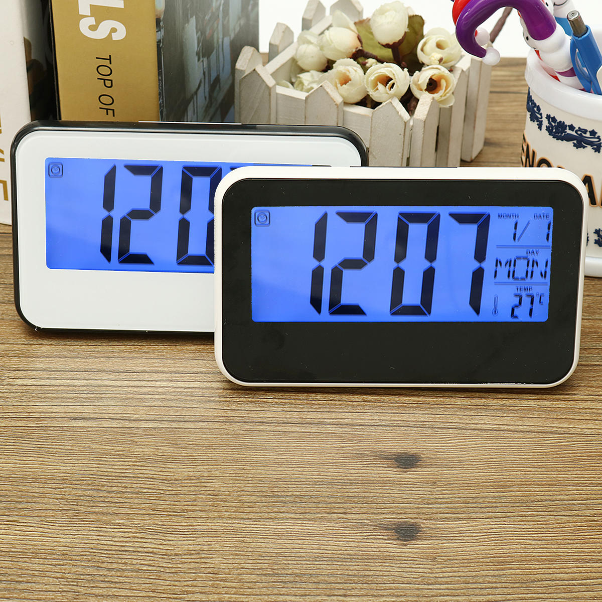 Digital Clock For Sale Lcd Display Digital Alarm Clock Sound Controlled With Thermometer Backlight Snooze
