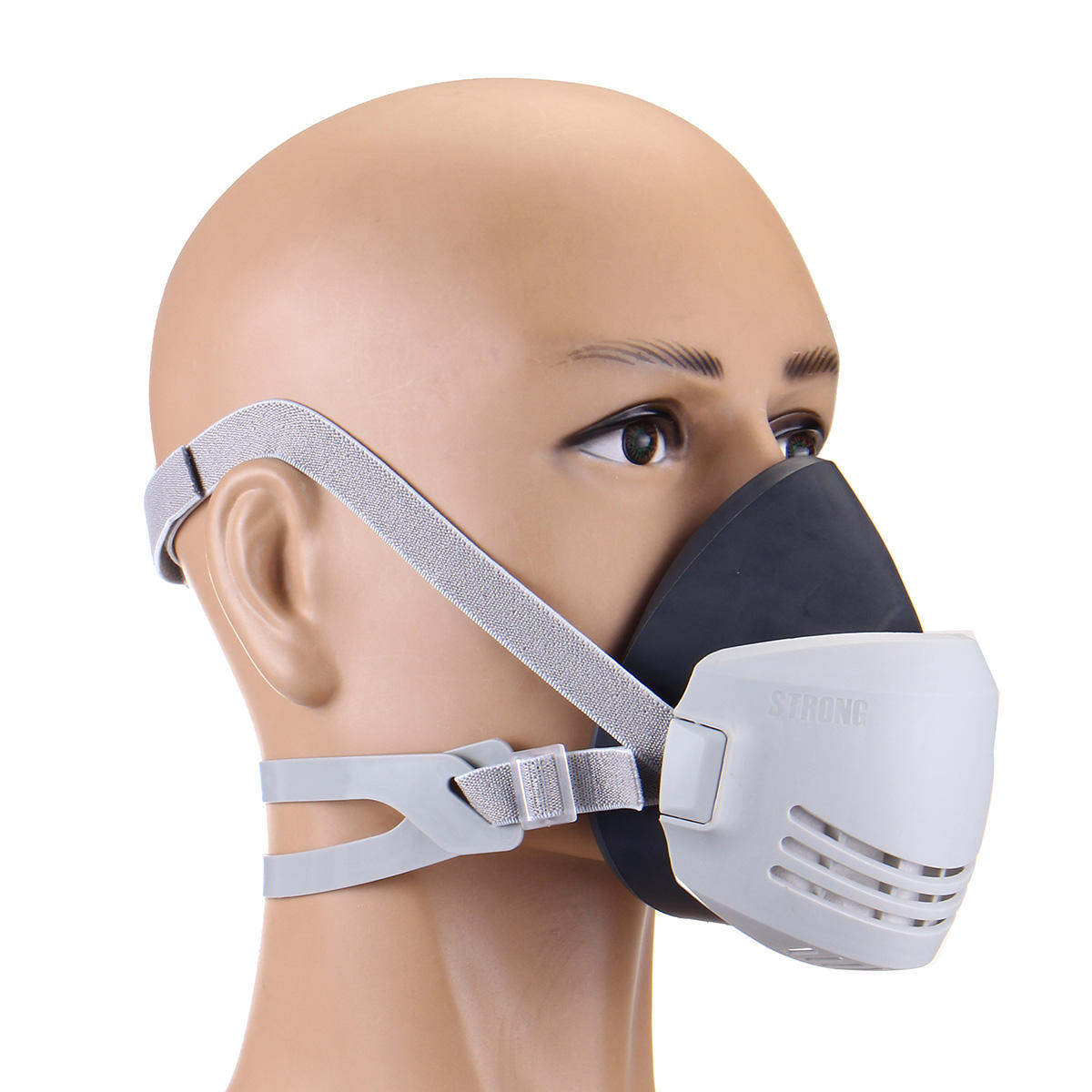 Respiratory Mask Facepiece Reusable Respiratory Protection Industry Face Mask Dust Painting Spraying Filter Respirator Gas Mask