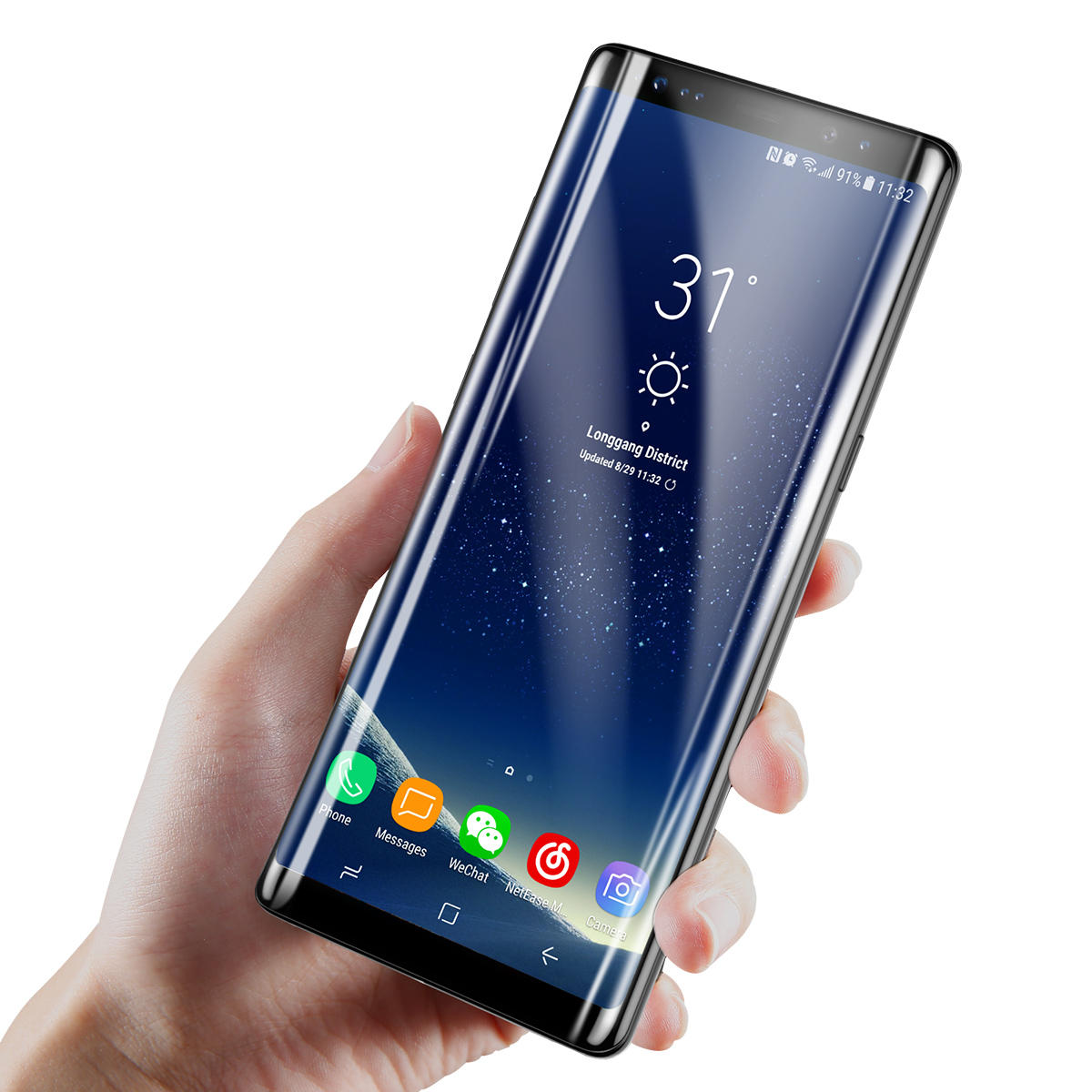 Samsung Screen Baseus 3mm 3d Curved Tempered Glass Screen Protector For Samsung Galaxy Note 8