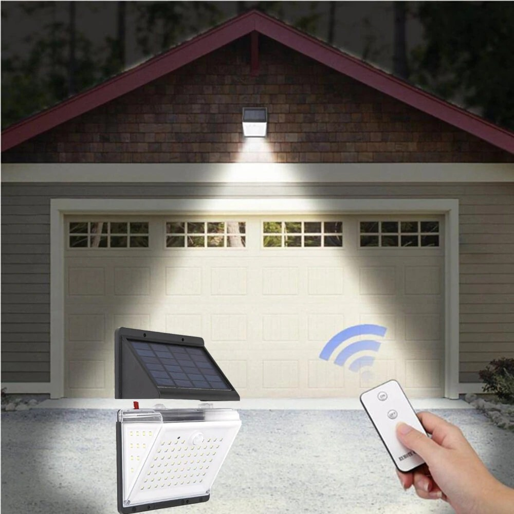 Led Sensor Buitenlamp 10w Separable 88 Led Solar Pir Motion Sensor Led Wall Lamp Rechargeable Waterproof Garden Yard Outdoor Lamp