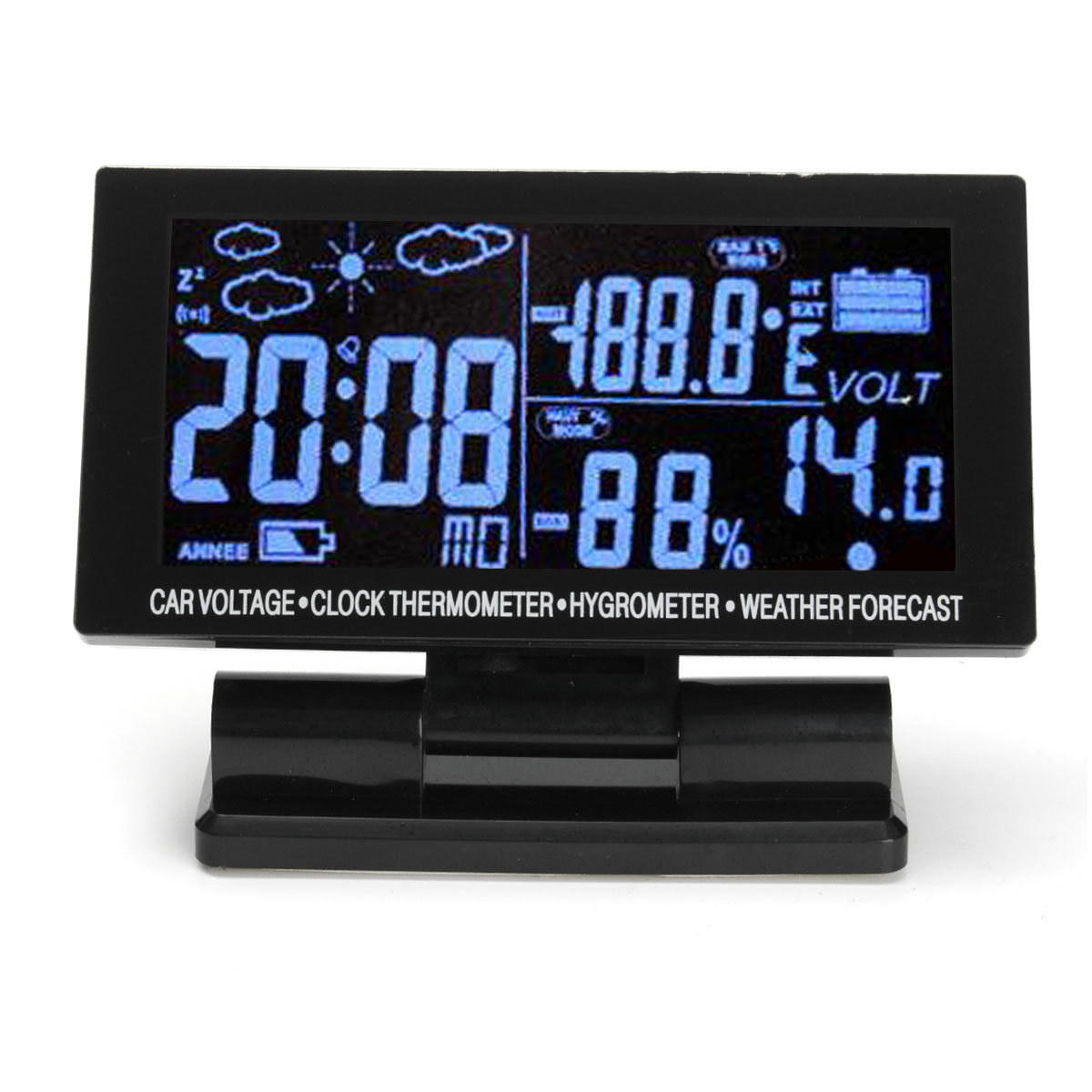 Digital Clock For Sale Lcd Digital Clock Car F C Thermometer Hygrometer Voltage