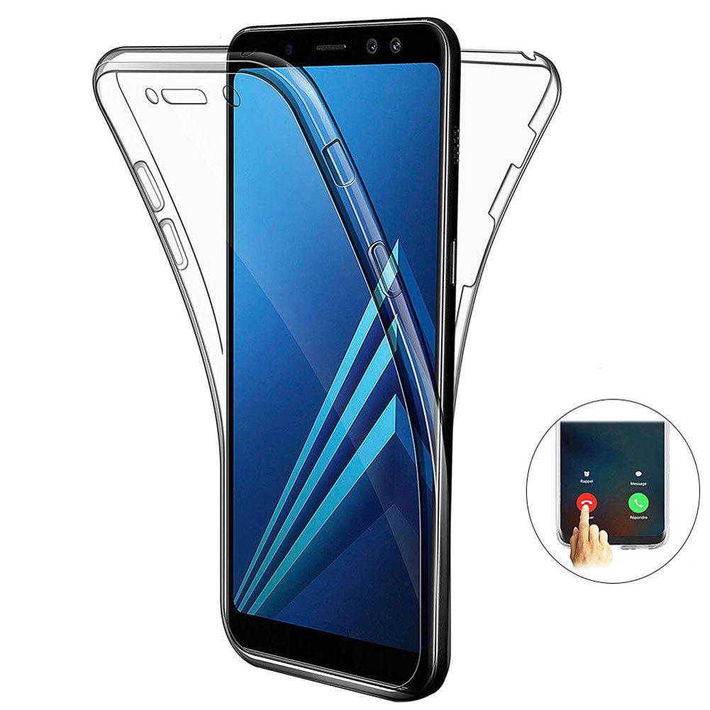 Samsung Screen Full Body Clear Touch Screen Protective Case For Samsung Galaxy A9 2018 A7 2018 A8 2018 A8 Plus 2018 A6 2018 A6 Plus 2018