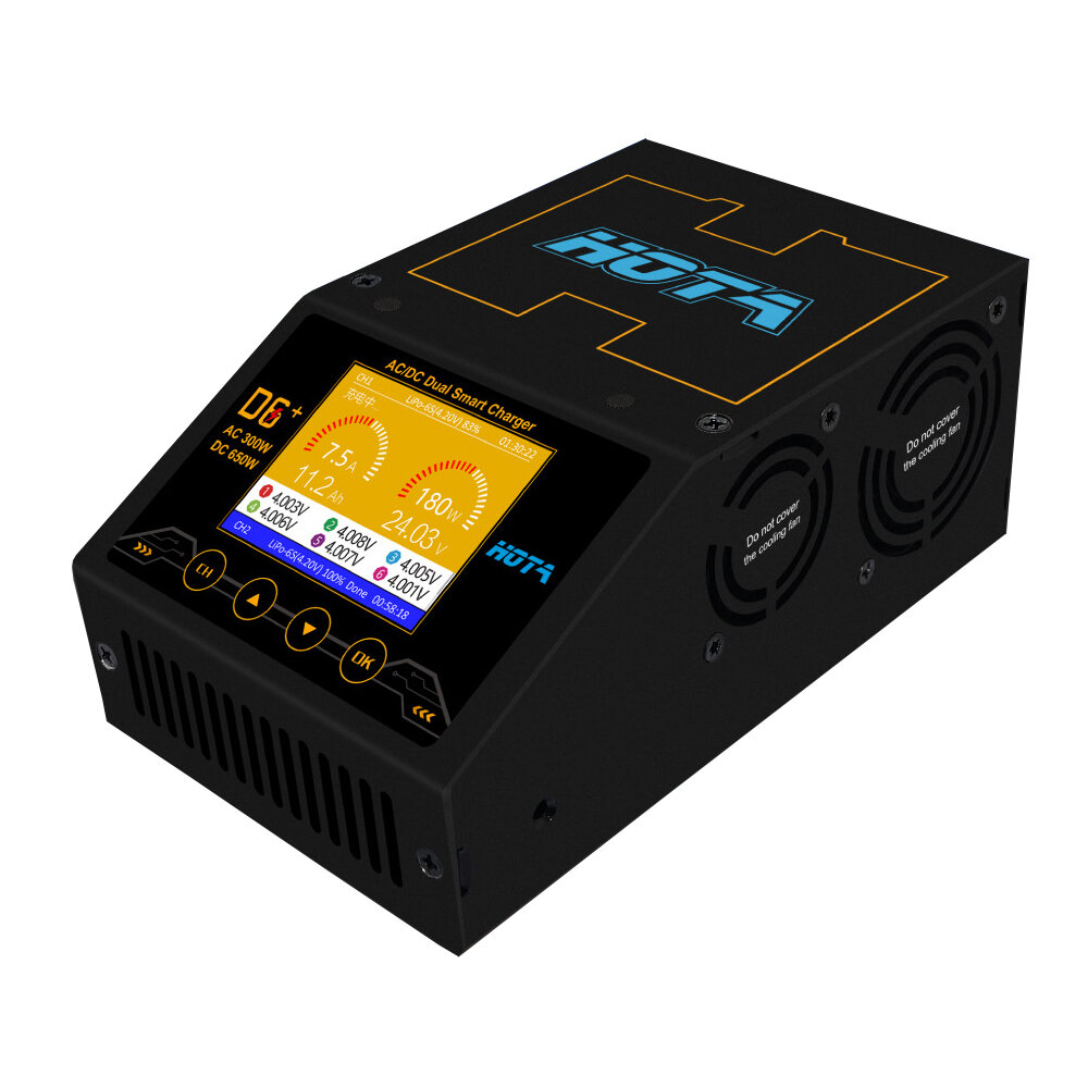 Smart Battery Hota D6 Ac 300w Dc 2x325w 2x15a Dual Channel Smart Battery Charger Discharger
