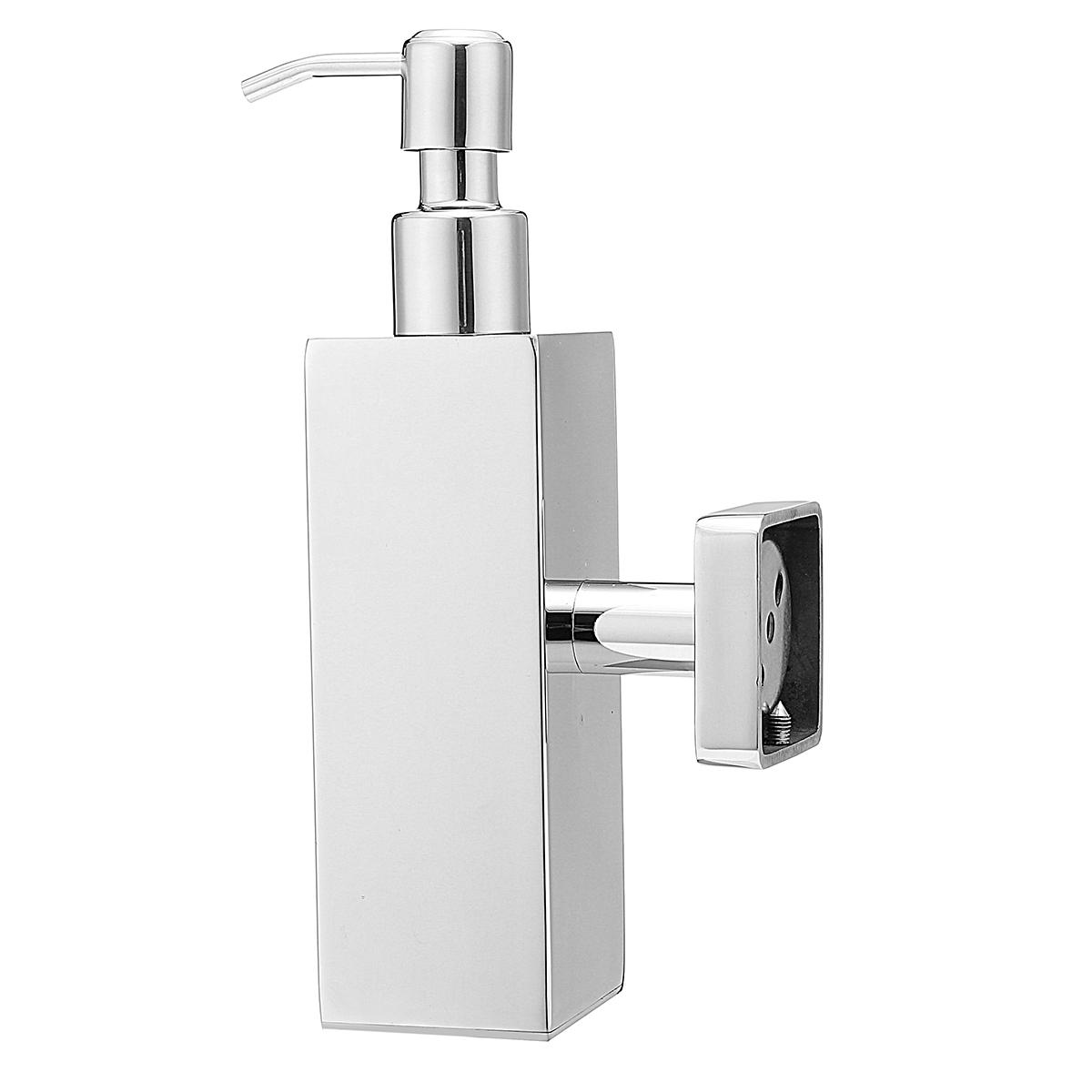 Unique Hand Soap Dispenser Stainless Steel Hand Soap Dispenser Liquid Bottle Holder Wall Mounted Bathroom Storage