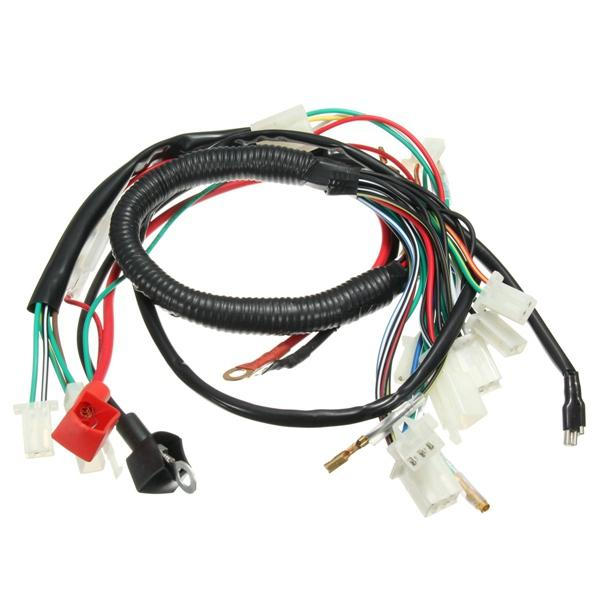 wiring harness loom for chinese electric start quads 50cc 70cc 90cc