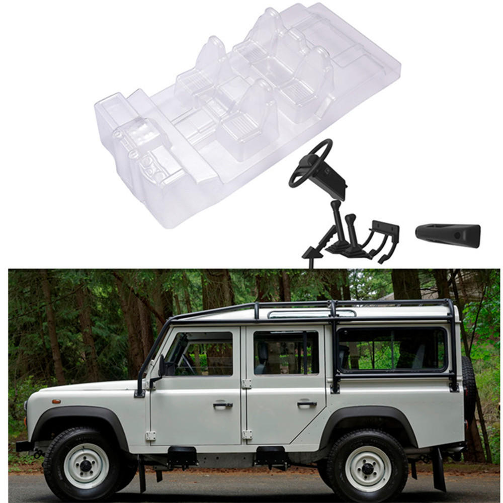 Simulation Décoration Simulation Interior Car Body Shell Decoration For Traxxas Trx4 Land Rover Defender D110 Rc Parts