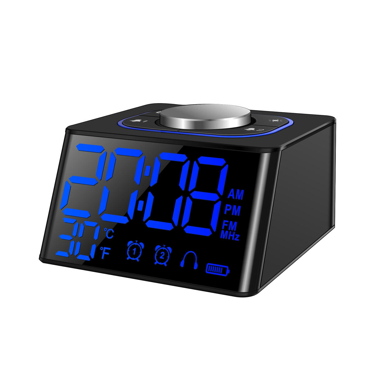 Digital Clock For Sale Bedroom Digital Lcd Snooze Alarm Clock Dual Usb Fm Radio Thermometer Calendar