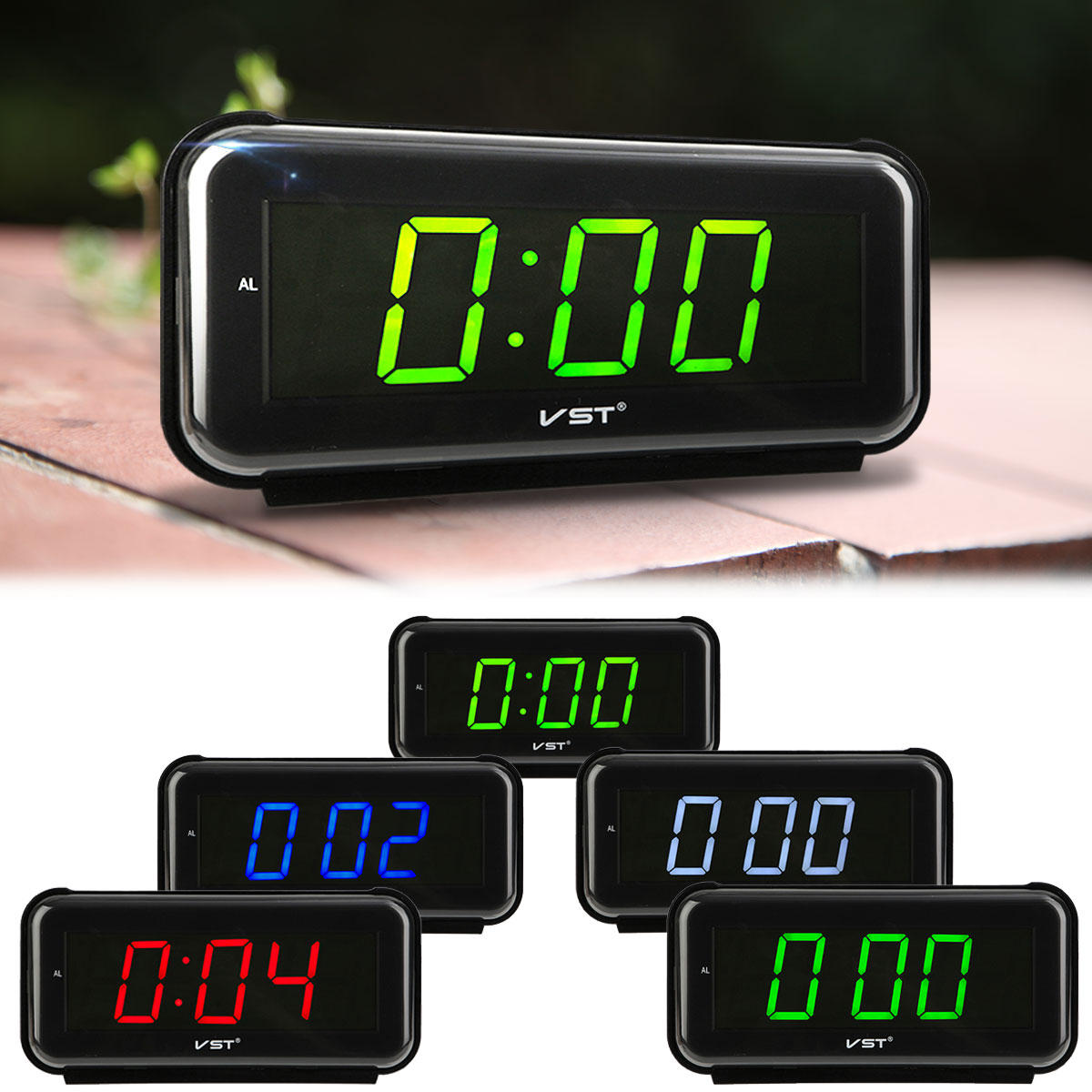 Digital Clock For Sale Vst 806 Led Alarm Clock Timer 1 8 Inch Display 24 Hour System Fashion Multi Function