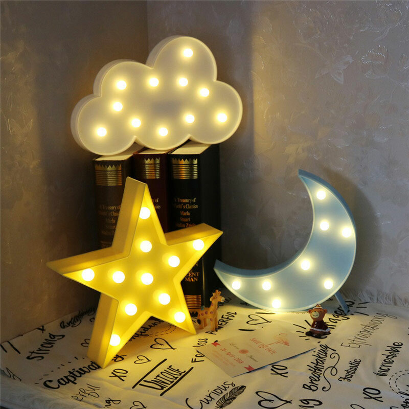 Nachtlampe Schlafzimmer Vvcare Bc-nl02 Led Night Light For Kids Moon Star Cloud