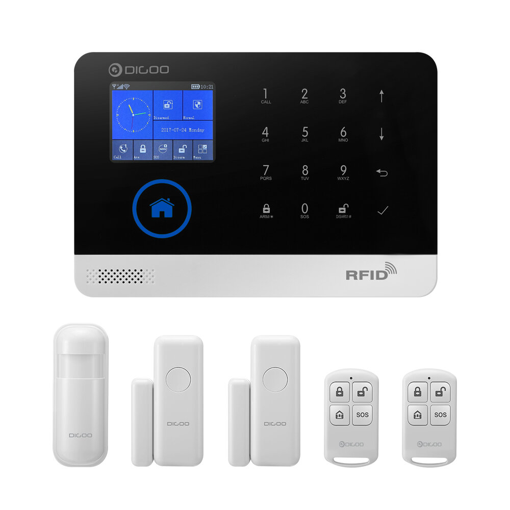 Dg Home Digoo Dg Hosa 433mhz 2g Gsm Wifi Smart Home Security Alarm System Protective Shell Alert With App