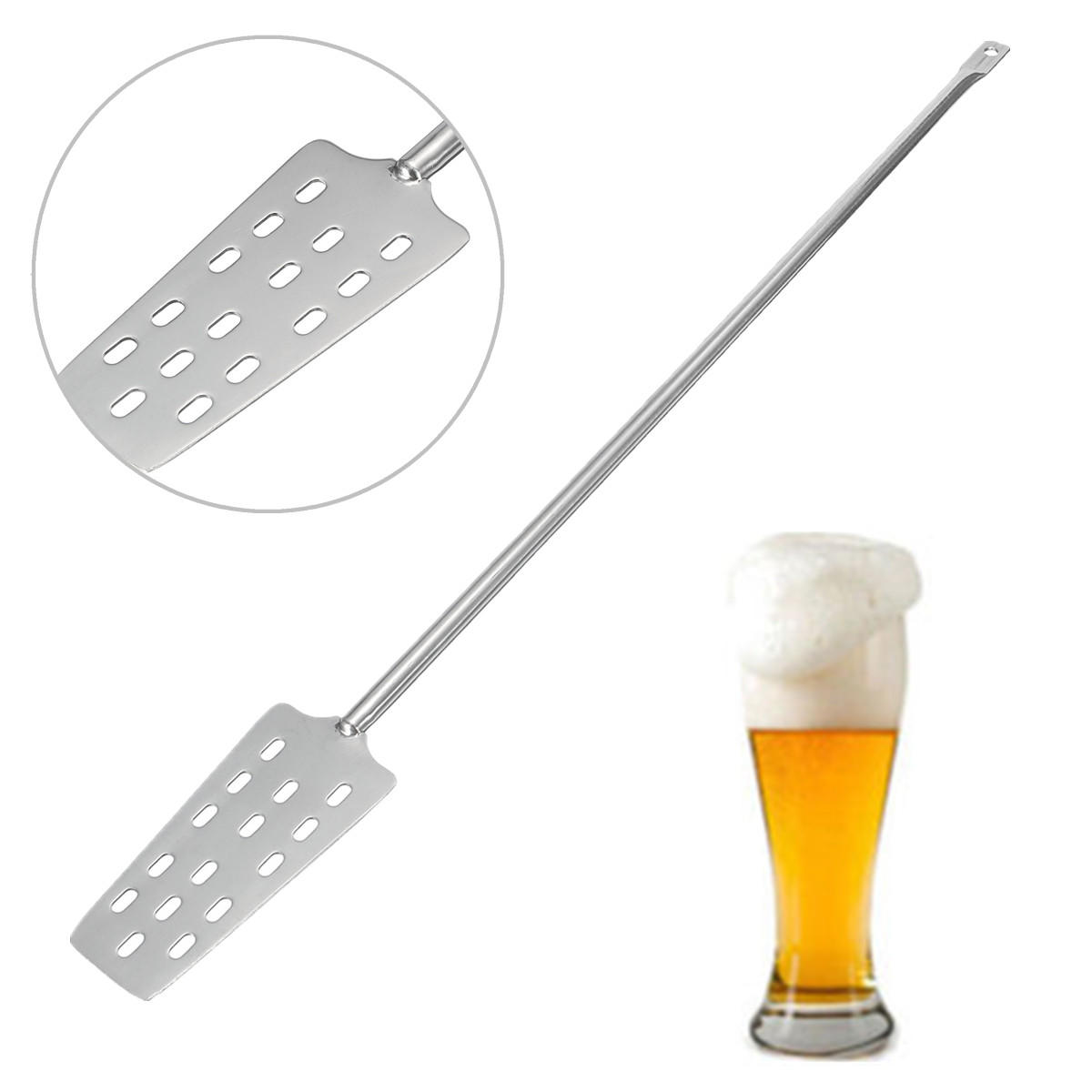 Mixing Tools 316 Stainless Steel Wine Mash Tun Mixing Stirrer Paddle Homebrew With 15 Holes Wine Making Tools