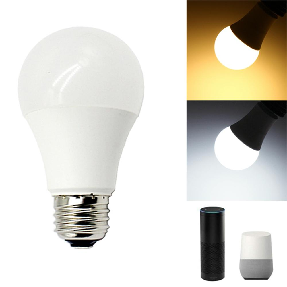Smart Led Bulb E27 12w Color Temperature Adjustable Wifi Smart Led Light Bulb Work With Alexa Goolge Ac110 220v