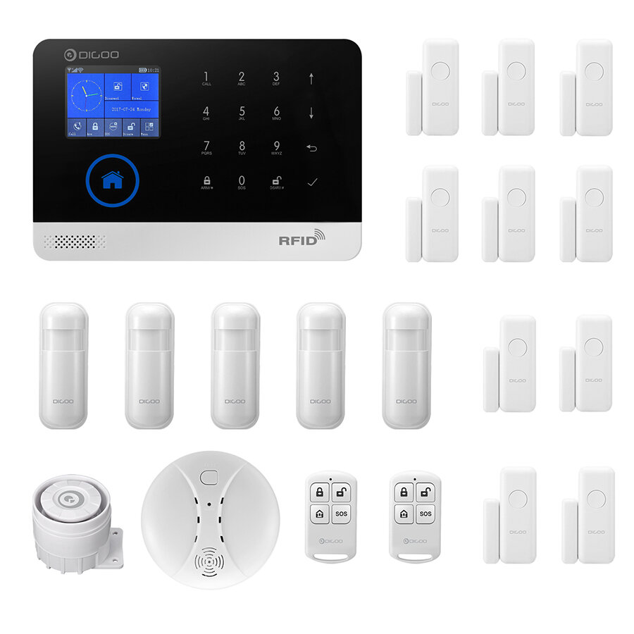 Dg Home Digoo Dg Hosa 433mhz Wireless Gsm Wifi Diy Accessories Smart Home Security Alarm System Kits