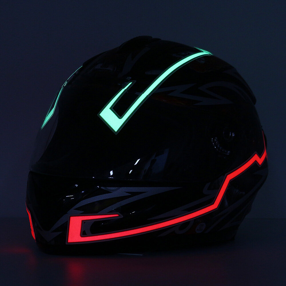 Strip Led Motorcycle Helmet Light Strip Led Night Signal Light Luminous Stripe Fashion Modified Glowing Bars