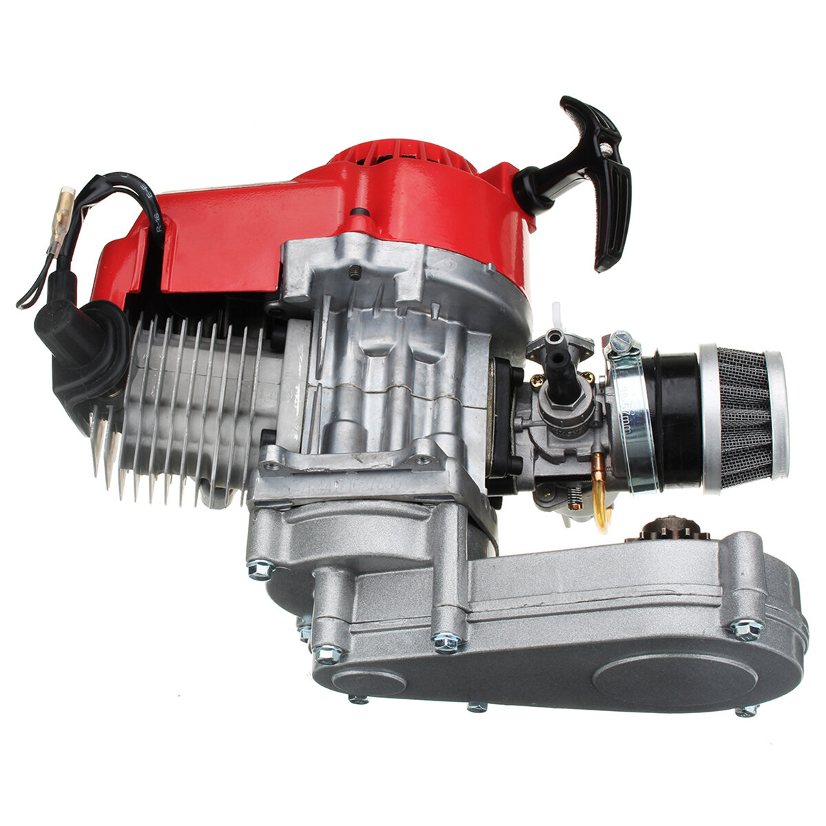 Shop Moto Salon 49cc Engine 2 Stroke Pull Start With Transmission For Mini Moto Dirt Bike Red