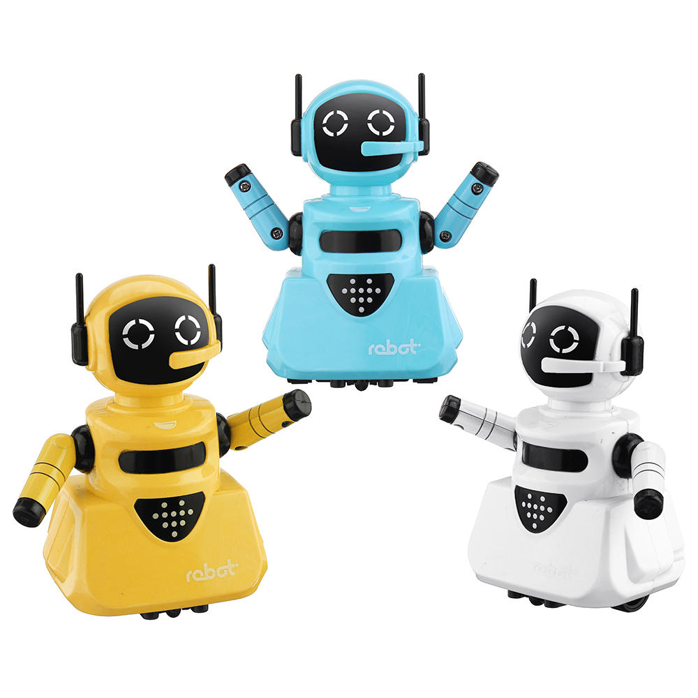 Children Robot Line Tracking Smart Rc Robot Shining Light Robot Toy Gift For Children