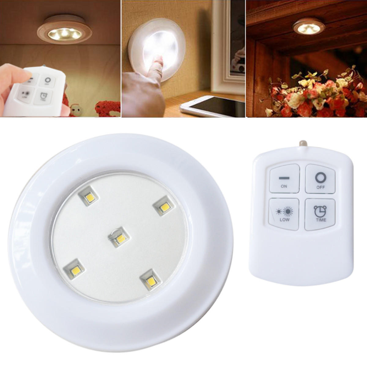 Remote Controlled Night Light Wireless Remote Control Bright Led Night Light Battery