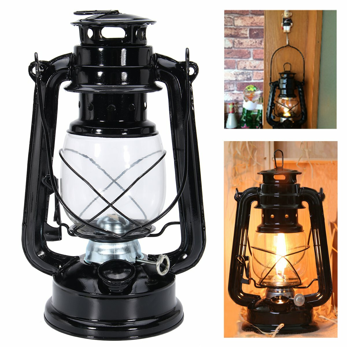 Diy Kerosene Lamp Ipree Retro Oil Lantern Outdoor Garden Camp Kerosene Paraffin Portable Hanging Lamp
