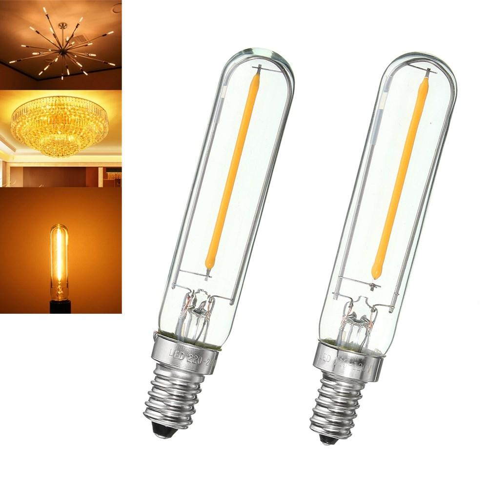 Led E 14 E12 E14 T120 1w 100lm Dimmable Vintage Cob Led Edison Filament Refrigerator Light Bulb