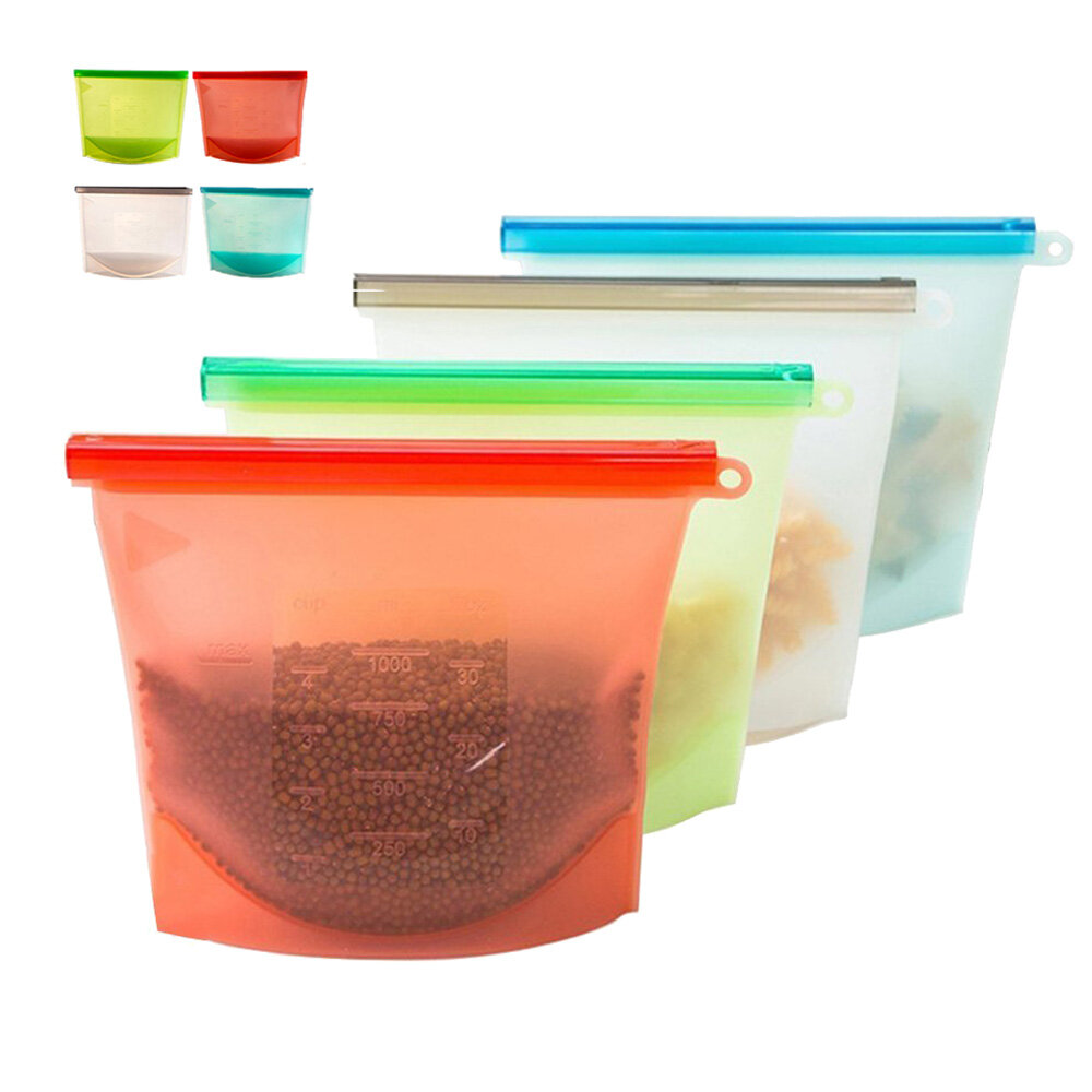 Ziplock Bags Australia Reusable Silicone Food Fresh Bags Fridge Food Storage Containers Refrigerator Sealed Bag Kitchen Vegetable Fruits Ziplock Bags Silicone Vacuum Food