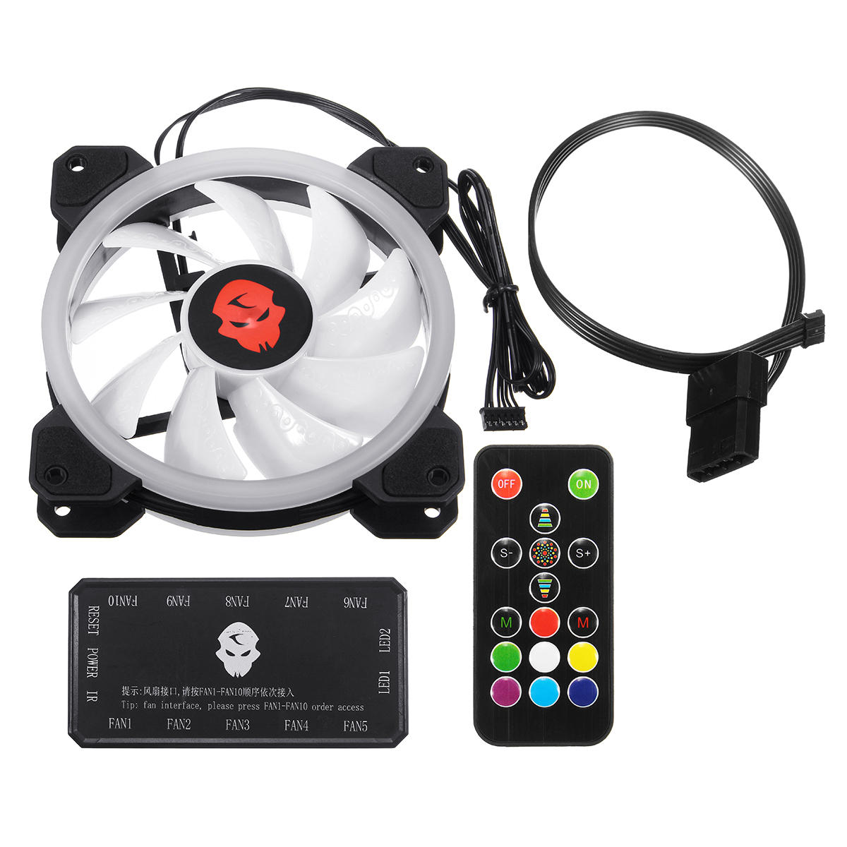 Case Pc Coolmoon 1pcs 120mm Adjustable Rgb Led Light Computer Case Pc Cooling Fan With Ir Remote Controller