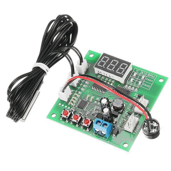 zhiyu® dc 12v 24v 48v 2 way cooling pwm 4 wire fan temperature
