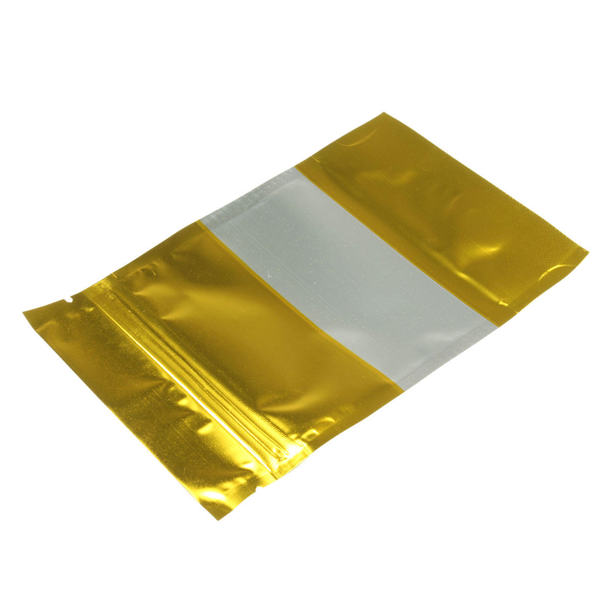 Ziplock Bags Australia 100pcs Gold Aluminum Foil Stand Up Bags Zip Lock Mylar Pouches With Window Food Grade