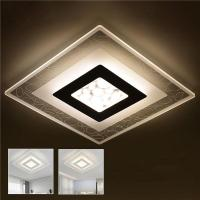 28W Modern Simple Square Acrylic LED Ceiling Lights Living ...