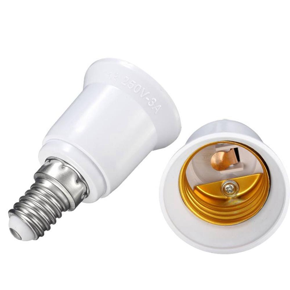 E14 E27 Adapter E14 To E27 Fireproof Material Lamp Holder Converter Socket Base Light Bulb Adapter Conversion